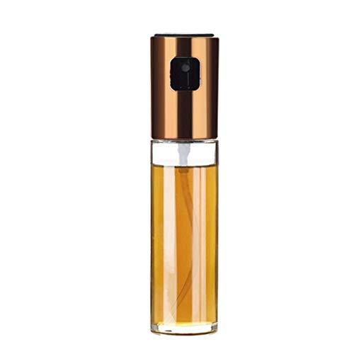 DYV 100ml Pressentyp Sprühflasche Haushaltsküche Transparentes Glas mit hohem Borosilikatgehalt Einfarbige Gießkanne Wird in Olivenöl, Erdnussöl, Sojasauce, Sesamöl verwendet