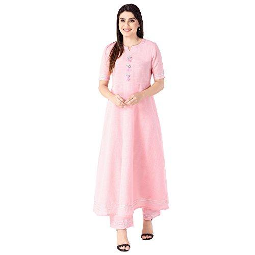 KHUSHAL Women's Cotton Kurta With Palazzo Set Women's Salwar Suits at amazon