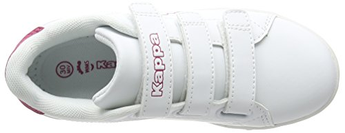Kappa Court K, Baskets Basses Mixte Enfant Blanc (White/pink)