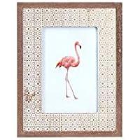 Art Deco Home - Marco de Fotos 10x10 cm Flamingo - 15044SG