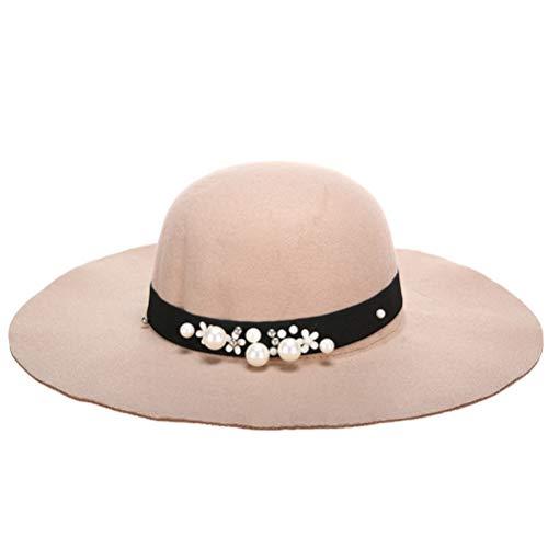 Frau Woll Fedoras Hut breiter Krempe Sonnencreme Sonnenhut Frühling und Herbst bequemen Hut (Gold Rush Kostüm)
