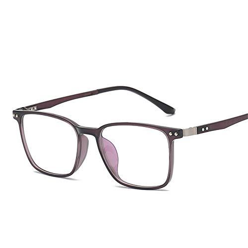 Kurzsichtige Brillentrahmung Anti -Blue Light Spektakel Frame Business Men Retro -Plain Brillen Für Kurzsichtige Augen,Schwarze Box