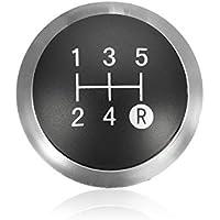 Desconocido Pomo de Palanca de Cambios Cromado para Toyota Avensis 33624-09010, Color Negro