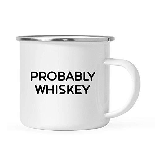 TANGGOOD lustiger Alkohol 11oz. Edelstahl Lagerfeuer Kaffee-Haferl Geschenk, wahrscheinlich Whisky, 1er-Pack, Weihnachten 21. Geburtstag Metall Emaille Camping Camp Trinkbecher für ihn Ihr (Kaffee-geschenk-pack)