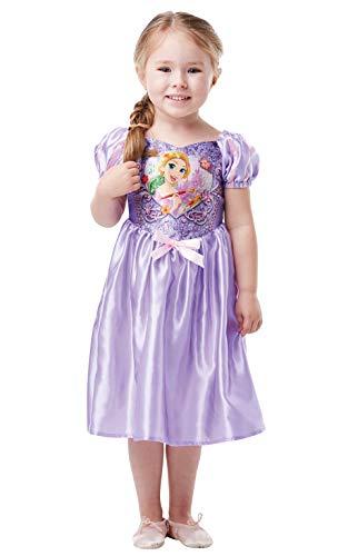 Rapunzel Kleinkind Kostüm - Rubie's 641354TODD Offizielles Disney Prinzessin Rapunzel Klassisches Kostüm für Kinder, Kleinkinder, Größe Alter 2-3 Jahre, Höhe 98 cm, mehrfarbig