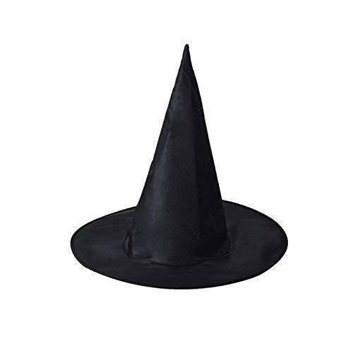WSJDE 1 Pchalloween Hexenhut Caps Maskenbär Party Dekoration Erwachsene Damen Schwarz Hexenhut für Halloween Kostüm Zubehör Caps - Schwarze Katze Kostüm Party Stadt