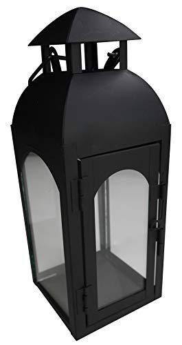 khevga–Farol de Metal Negro Modern 27cm