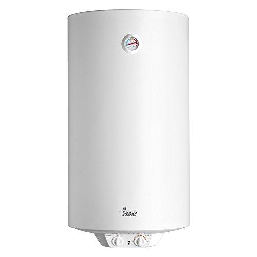 Teka - Termo Electrico Ewh100, 100L, Blanco, 450X886, Tanque Esmaltado, Resistencia Ceramica, Termostato Temperatura 30-75º, 1500W