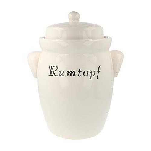 Pure Nature Rumtopf aus Keramik 5 Liter Creme ohne Dekor