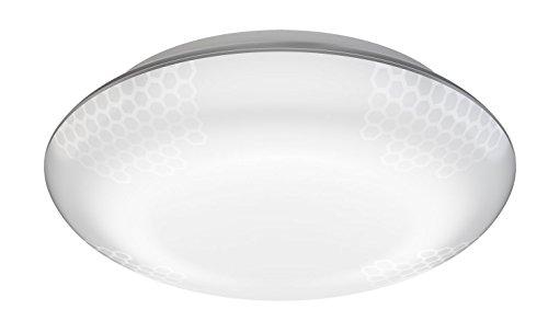 Steinel LED Deckenleuchte DL Vario Quattro silber, 360° Sensor in 4 Richtungen einstellbar, schlagfest, - Uv-lampe Die Intensität