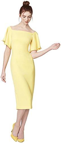 Etxart & Panno Casiopea, Vestido para Mujer, Amarillo (Yellow), (Tamaño del Fabricante:42)