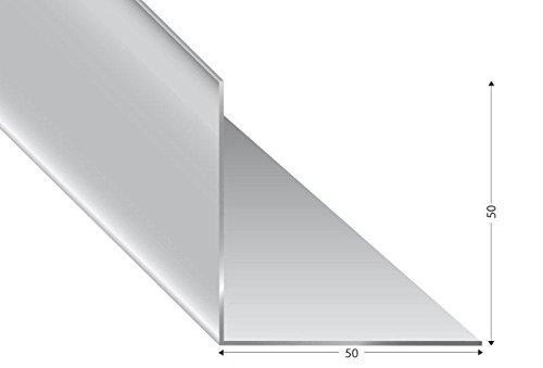 ALU-Winkel gleichschenklig, silber eloxiert, 50x50x2mm, 200cm