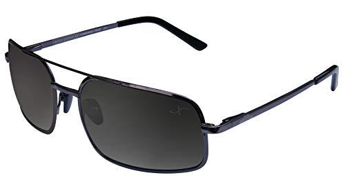 Xezo Titan PUR, polarisiert UV 400große Größe, Gewicht Feder Sonnenbrille, Schwarz Chrom, schwarz Chrom, 20g/19,8Gram