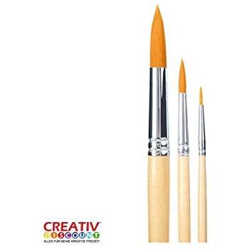1 Gr CREATIV DISCOUNT/® Haar-Pinsel Primus 8503 Haar gold rund