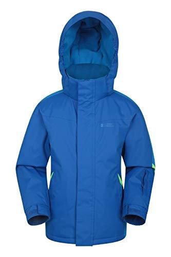 Mountain Warehouse Raptor Schneejacke für Kinder - Schneedichte & Warme Winterjacke, Skijacke, Kindermantel mit Fleecefutter & integrierter Schneerock zweifarbiges Blau 152 (11-12 Jahre)