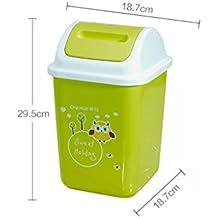 Schütteln Abdeckung Trash European Fashion Home Küche WC Abfalleimer Kleinanzeigen Storage Barrel Gesundheit Barrels ( farbe : Grün )