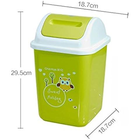 Agitare copertura Trash europeo della casa di modo WC cucina bidoni classificati bagagli Botti Botti Salute ( colore : Verde