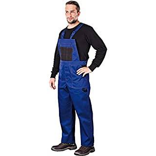 Work bib, overalls, dungarees, work trousers, multi-functional, various colours. - -  Blue -