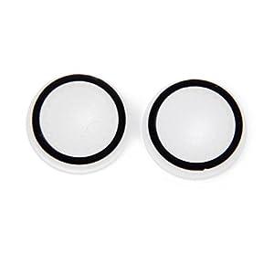 1 Paar Joystick Thumbstick Kappen für PlayStation 4 PS4 Steuerung Luminous Schwarz