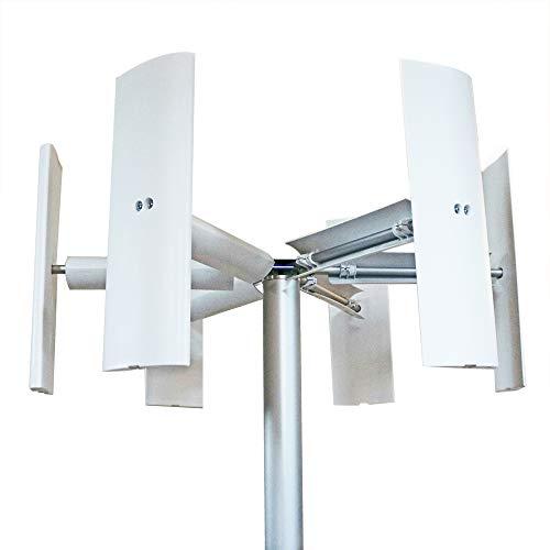 6aspas para generador eólico con eje vertical Domus 500 / 750 / 1000W + 3aspas eólicas...