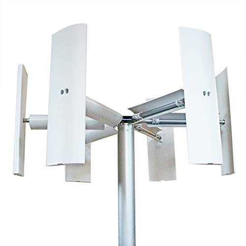 6aspas para generador eólico con eje vertical Domus 500 / 750 / 1000W + 3aspas eólicas Darrieus Savonius