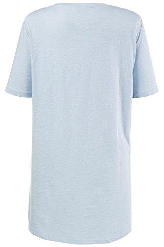 Ulla Popken Damen große Größen Shirt 712563 Hellblau