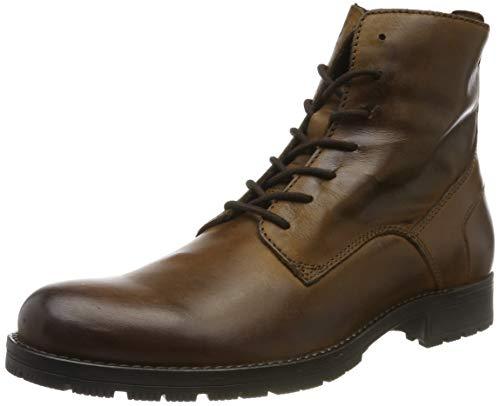 JACK & JONES Jfworca Leather 19 STS, Botas Clasicas para Hombre, MarrónCognac Cognac, 46 EU