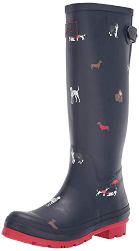 Tom Joule Joules Damen Welly Print Gummistiefel, Blau (Navy Dogs Navdogs), 40/41 EU
