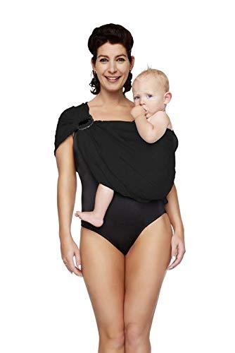 ByKay AQUAsling wasserfestes Tragetuch ⭐ Öko-Tex-zertifiziert sicher & komfortabel bis 15 Kg Bauchtrage Babytrage
