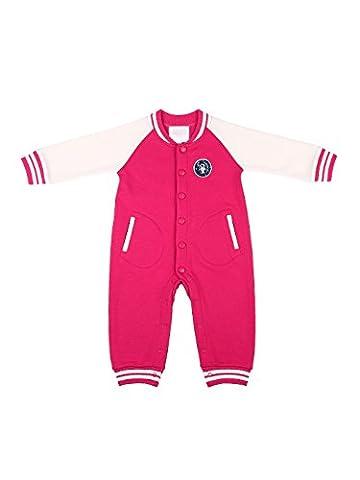 Oceankids Baby Mädchen Rosa Overall Säugling Spieler Kleidung Baseball Baby Strampler 9-12 Monate