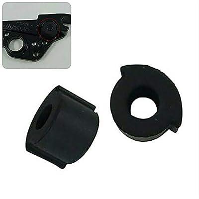 Vvciic 2 STÜCKE Zubehör Runde Werkzeug Stoßfest Elektroroller Kissen Solide Silikon Pad Folding Protector Für Ninebot ES1 ES2 ES4