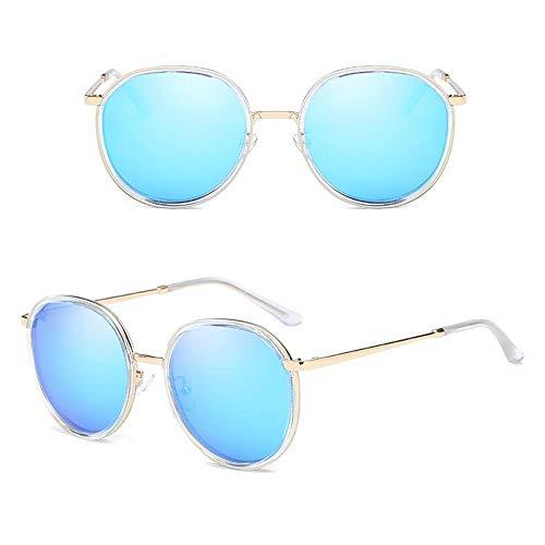 ANHPI Polarisierten Sonnenbrillen Damen Runden Großer Metallrahmen Fahrbrille, 5 Farben (Color : #2)