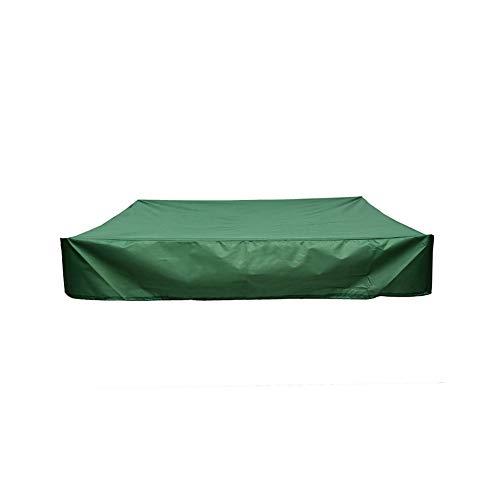 Bâche de protection carrée pour bac à sable - Bâche de protection pour bac à sable - Bâche imperméable en tissu Oxford - avec cordon de serrage - pour jardin et ferme.