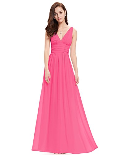 Ever-Pretty Damen Empire Kleid Helles EP09016PK08, Hot Rosa,36EU