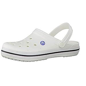 crocs Unisex-Erwachsene Crocband U Clogs, Weiß (White), 45/46 EU