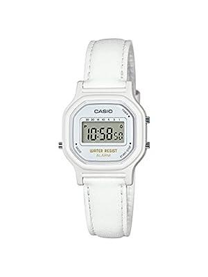 Casio - Reloj de cuarzo clásico para mujer de resina, color blanco (modelo:LA-11WL-7ACF)