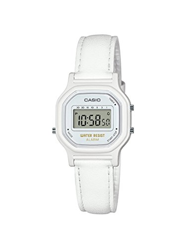Casio - Reloj de cuarzo clásico para mujer de resina, color blanco modelo:LA-11WL-7ACF