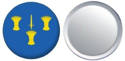 Miroir insigne de bouton Angleterre Cheshire drapeau - 58mm