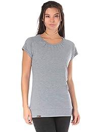 8babb18c3e52 Lakeville Mountain Basic Damen T-Shirt SCHARI   Kurzarm Oberteil mit  Rundhals-Ausschnitt