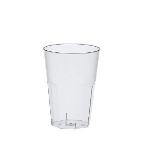 Papstar Gläser / Becher für Latte Macchiato bzw. Caipirinha, aus Polystyrol, 0.3 l, (30 Stück) Ø 8 x 11 cm, glasklar, ideal für Cocktails, hitzebeständig bis 85°C, mit Füllstrich, extra stabil #16507