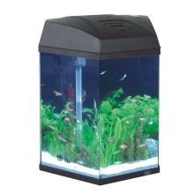 Fish R Fun Hexagonal Aquarium, 33 x 30 x 43 cm, Black