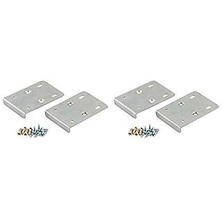 Reparaturset für Küchenschranktür, 4 Platten und Befestigungsschrauben, silberfarben, 4 Stück