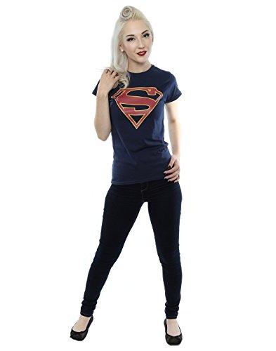 DC Comics Femme Supergirl Logo T-Shirt Foncé