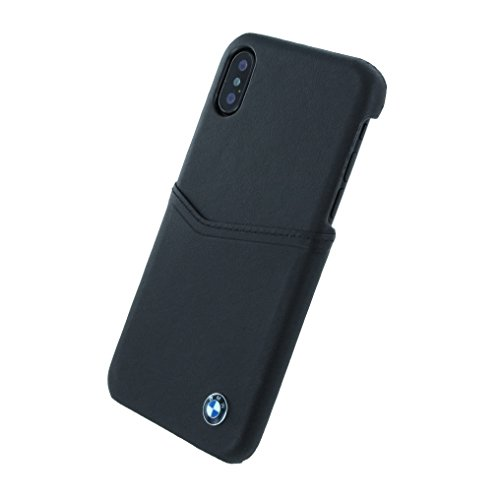BMW Originale Custodia Protettiva per Apple iPhone X Scomparto Signature Cover Case Nero