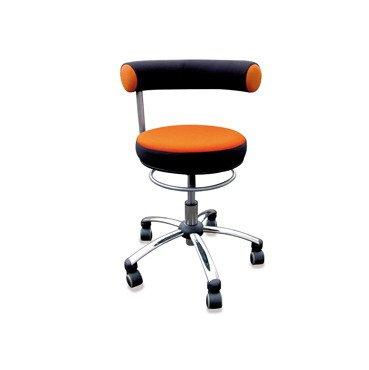 Sanus Gesundheitsstuhl Erzieherstuhl, Sitzhöhe standard (42-51 cm), orange/schwarz
