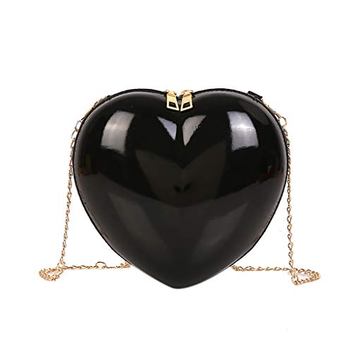 Women Handtasche Schultertasche Shopper Taschen Umhängetasche, Kinder girls boys Zipper Heart-shaped Crossbody Bag Simple Fashion Shoulder Bag lässigen Kette Wallet ()
