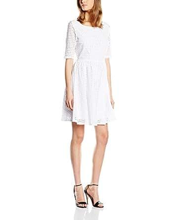 Naf Naf English Vestito da Donna, Colore Bianco (0654 Blanc Optique), Taglia IT: 42 (Taglia Produttore: 38)
