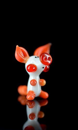 Cerdito de la suerte–Cerdito Color Blanco Rojo Naranja–Fig