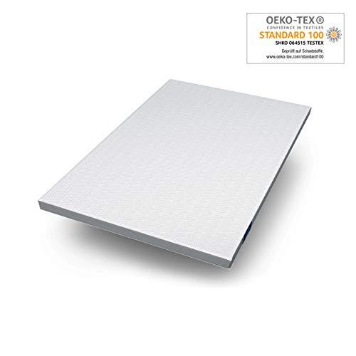 Genius Eazzzy Topper (Größe 140 x 200 x 7 cm) als Matratzenauflage für Matratzen & Boxspringbetten | Viskoelastischer Matratzentopper geeignet für Allergiker (weitere Größen erhältlich)