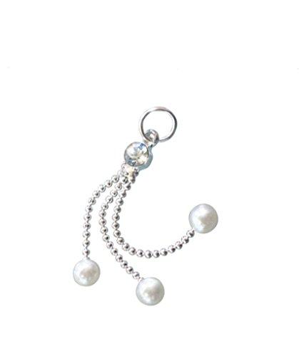 Finger Nagel Piercing-Kette 3-Perlen